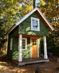 Tiny Cedar siding house